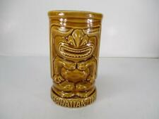 "Vintage Orchids of Hawaii Hawaiian Inn Tiki Drink Cup Mug 5"" Tall Japan"