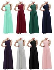 Women One-shoulder Long Formal Prom Dress Cocktail Bridesmaid Evening Party Gown