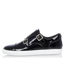DSQUARED2 New Lady Black Patent Leather Sneakers Shoes Made in Italy