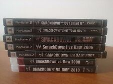 CHOICE OF WWE SMACKDOWN! GAMES FOR PS2 & PS3-VERY GOOD CONDITION- SHIPS FREE