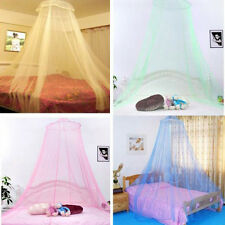 Elegent Lace Summer House Bed Netting Canopy Dome Circular Mosquito Net White