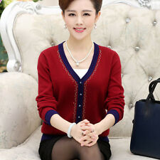 spring fashion elegant temperament thin cardigan cashmere Knitting sweater coat