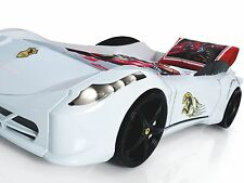 Ferrari 458 Race Car Bed, Children's Car Bed, Kids Beds, Boys Car Bed - White