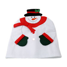 Cute Christmas Snowman Chair Covers Home Decor Ornament Dinner Chair Xmas Party