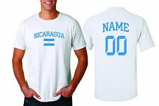 Nicaragua T-shirt Soccer Jersey any Sports Add Any Name & Number men's adults