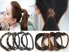 Women Girl Braid Straight Wig Elastic Hair Band Rope Scrunchie Ponytail Holder