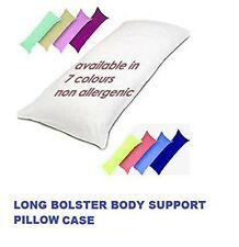 """Bolster Orthopedic Pregnancy Body Support Pillow Case 4ft & 6"""" Double Bed Size"""