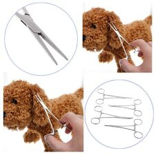 Dog Cat Ear Cleaning Steel Forceps Pliers Pet Clamp Tweezers Haemostatic Tool