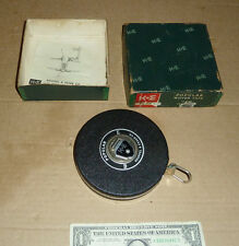 Vintage K&E,Keuffel Esser Popular 50 Ft.Woven Tape Measure,Box & Papers,Old Tool