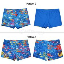 Kids Boys Swimming Trunks Cute Animal Sea-fish Swim Boxer Shorts Beach Swimwear