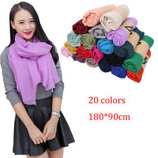 New Style Scarves Lady Women Long soft cotton Scarf Wrap shawl Stole