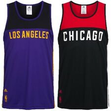 adidas NBA Basketball Tank Tops Fan Shirt Fanwear LA Lakers Chicago Bulls new
