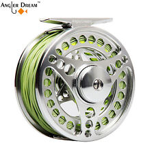 3/4 5/6 7/8WT Fly Fishing Combo CNC Machined Fly Reel & Fly Line Backing Leader