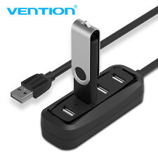 New Arrival Mini 4 Port USB 2.0 High Speed Hub 480 Mbps for PC Laptop black