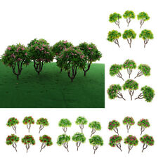 6x Flower Model Green Tree 1:100 Architecture Model Supply Building Kits Toy