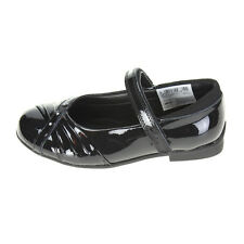 NEW CLARKS DOLLY SHY INF BLACK LEATHER GIRLS SHOE