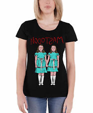 Mastodon T Shirt band logo twins Official Womens New Black Skinny Fit