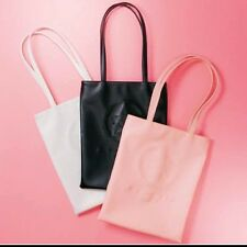 NEW Sailor Moon GU Black White Pink Faux Leather Tote Bag Crystal Star Compact