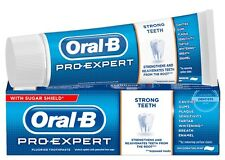 Oral B PRO EXPERT STRONG TEETH Plaque Stain Breath Enamel Whitening Toothpaste