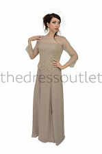 TheDressOutlet Long Mother of the Bride Dress Plus Size Formal Gown