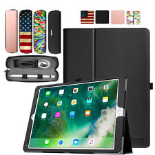 Apple iPad Folio Smart Leather Case Stand Cover & Apple Pencil Case Sleeve Pouch