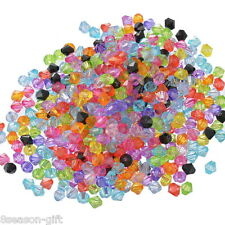 Wholesale Lots Gift Mixed Bicone Acrylic Tiny Spacers Beads 6x6mm