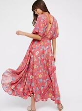 Bohemian Hippie Boho Gypsy Flower Mexican Ethnic Festival Carnival Maxi Dress