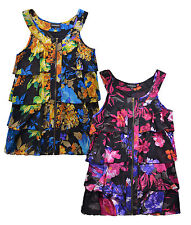 Ladies Floral Ruffle Blouse New Womens Curve Plus Size Chiffon Top UK 16 - 24