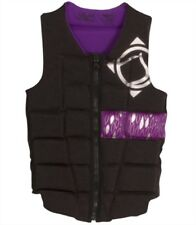 Liquid Force MELODY Ladies Watersports Impact Vest XS S M Black Grey 48875