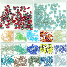 Wholesale 100pcs Faceted Teardrop Glass Crystal Loose Spacer Beads DIY 5X3mm
