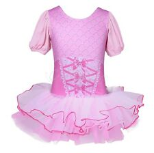 Girls Gymnastics Ballet Dress Kids Leotard Costume Tutu Dance Dress Dancewear