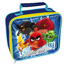ANGRY BIRDS CHILDREN SCHOOL KIDS INSULATED WIPE CLEAN LUNCH BAG BOTTLE SET