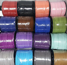 3mm x 1.5mm 100 yard Faux Suede Cord Leather Beading String Bracelet Necklace