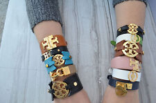 New Authentic Tory Burch Leather Wrap Bracelet