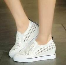 Women's Fashion Casual Sneakers slip on Driving loafer Leather punching shoes