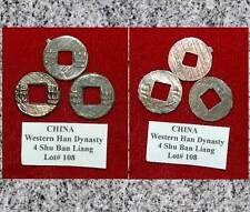 Ancient 3 Coins Lot#108 CHINA WESTERN  Dynasty BAN LIANG  C.179 BC CONFUCIANISM