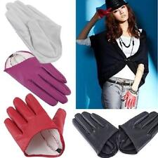Fashion Sex and The City PU Leather Women Five Finger Half-Palm Gloves Size M