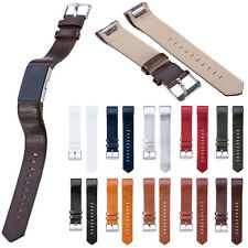 Luxury Genuine Leather Watchband Wrist Band Strap Bracelet For Fitbit Charge 2