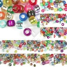Acrylic Foil Beads Spacer DIY Bracelet Necklace Jewelry Making Mixed 16 Styles