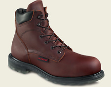 Red Wing 2406 Mens SIZE 8.5 E Brown MADE IN USA 6-Inch STEEL TOE Work Boots