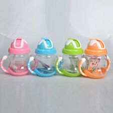 Cup Sippy Toddler Non Spill Leak Proof Straw Insulated Drinking Weaning Bottle