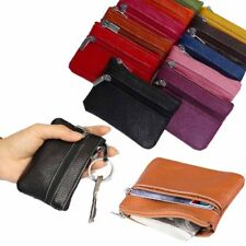 Mini PU Leather Cards Coin Key Holder Zip Wallets Purses Pouch Bag Mens Womens S