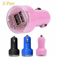 1 PC New Bullet Adaptor Dual USB 2-Port Car Charger For iPhone iPod Touch