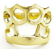 BIG KNUCKLE DUSTER GOLD BRASS MEN RING