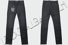 DOLCE & GABBANA 525$ Authentic New Skinny Gray Cotton Blend Signature Jeans