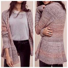 Anthropologie Cody Peplum Cardigan by Knitted & Knotted Sz L - NWT