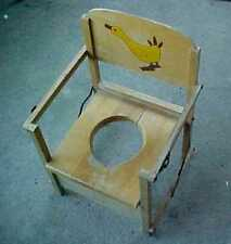 VINTAGE WOODEN CHILD'S FOLDING POTTY TRAINING SEAT (ALSO MAKES A GOOD PLANTER)