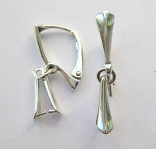 Solid Sterling Silver 925 Leverback Earring Hook With Pinch Bail 2 - 10 pc
