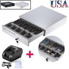 5 Bill 5Coin Drawer for Epson Star POS Printer+58mm Receipt Thermal Printer N0E3