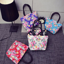 Printing Flowers Canvas Shopping Handbag Shoulder Tote Shopper Girls Women Bag
